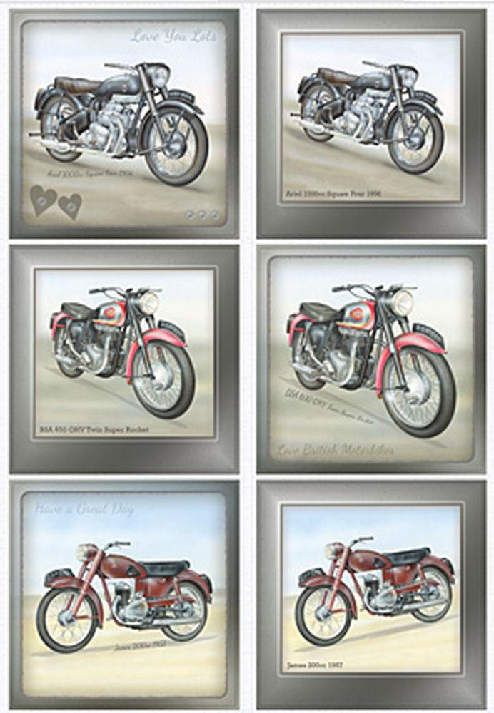 Classic British Motorbikes Diecut Topper Sheet