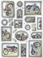 Classic British Motorbikes Foiled Diecut Topper Sheet
