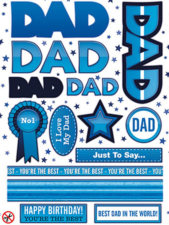 Dad Topper Sheet - Blue