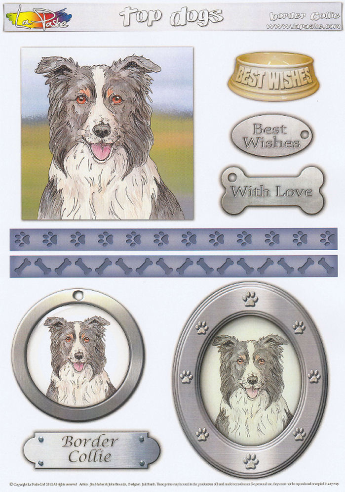 Border Collie Topper Sheet