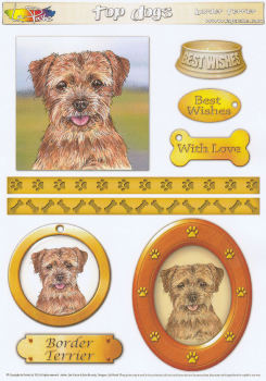 Border Terrier Topper Sheet