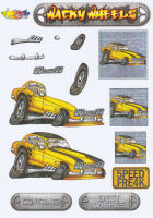Wacky Wheelz Ford Capri Decoupage Sheet