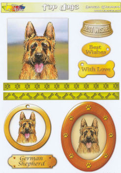German Shepherd Topper Sheet