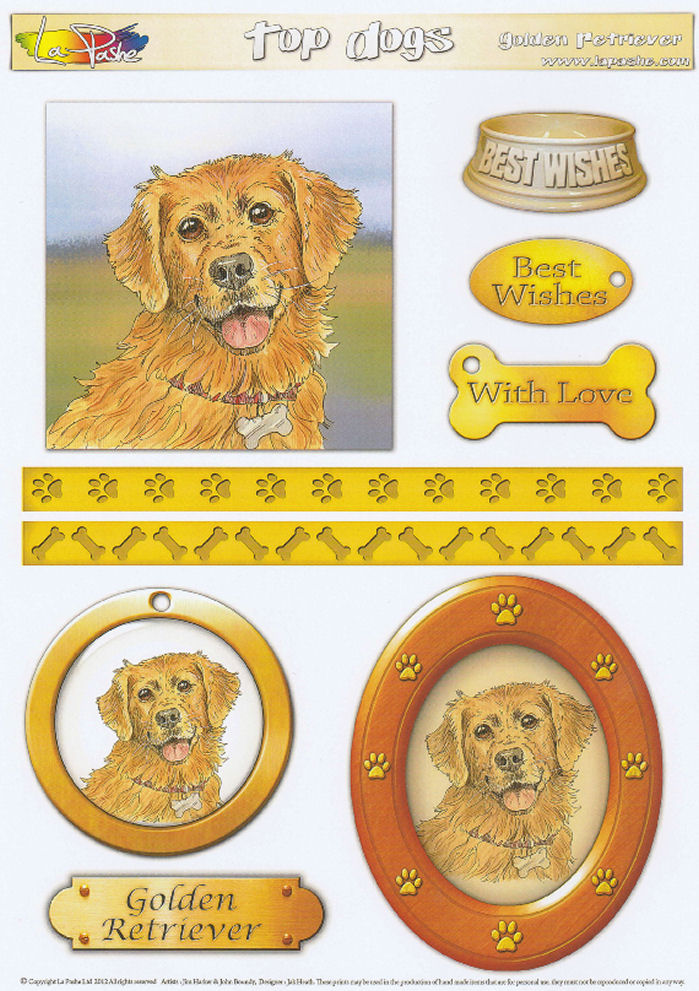 Golden Retriever Topper Sheet