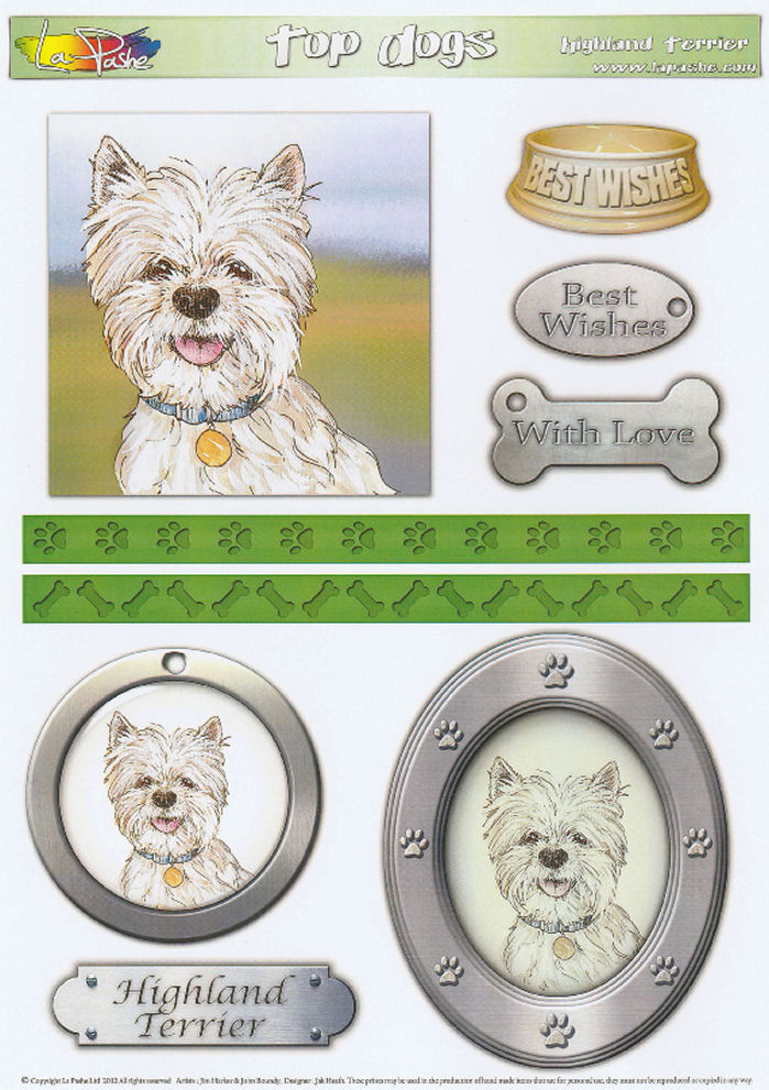 Highland Terrier Topper Sheet