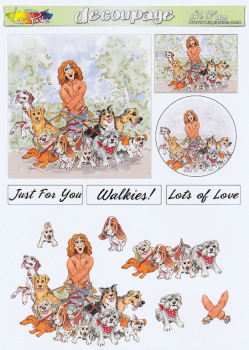 For The Love of Dog Decoupage Sheet