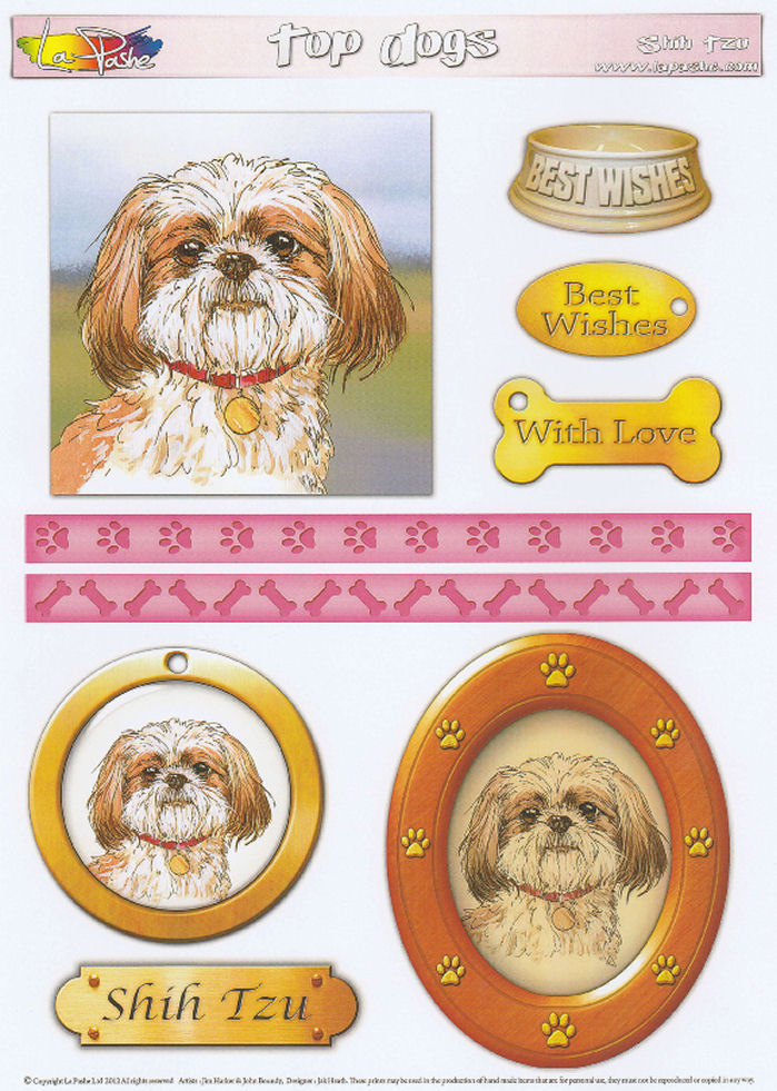 Shih Tzu Topper Sheet