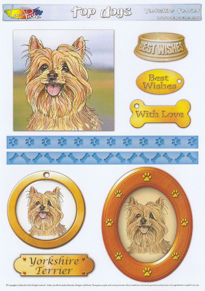 Yorkshire Terrier Topper Sheet