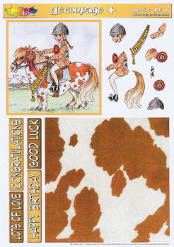 Horse Play Decoupage Plus Sheet