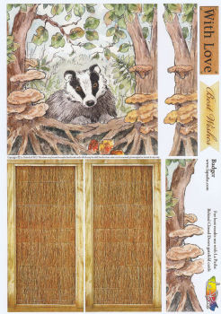 Badger Behind Closed Doors Decoupage Sheet