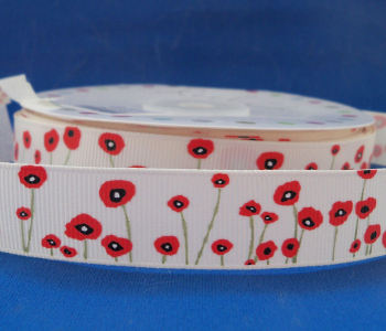 Poppy Grosgrain Ribbon