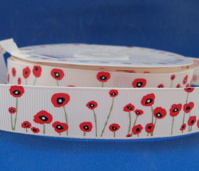 Poppy Grosgrain Ribbon
