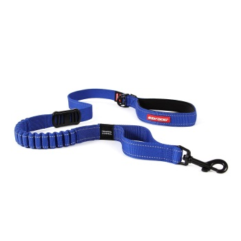 Zero Shock Dog Lead-Blue-Long.
