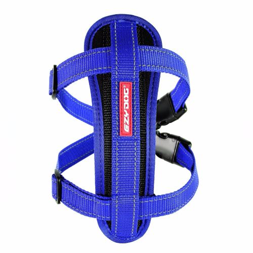 Chest Plate Dog Harness-Blue-Medium.