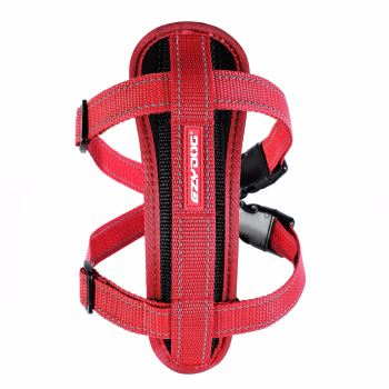 Chest Plate Dog Harness-Red-Medium  ON SALE.