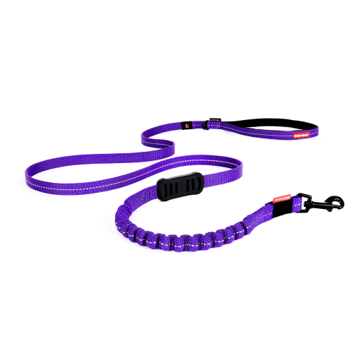 Zero Shock Dog Lead-Purple-Long