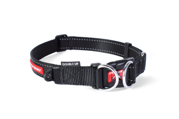 Double Up Dog Collar - Black - Large