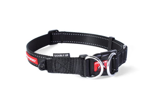 Double Up Dog Collar - Black - Medium