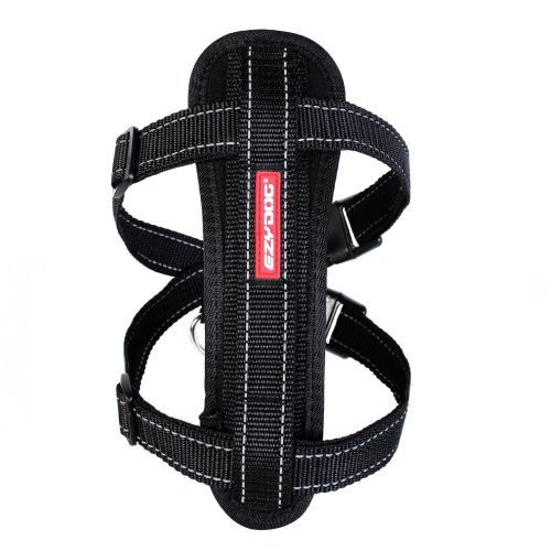 Chest Plate Dog Harness - Black - Medium