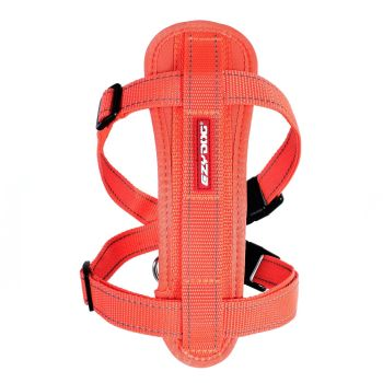 Chest Plate Dog Harness - Orange - Medium  ON SALE