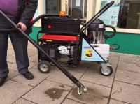 Steam clean Systems Gum Gulper street cart gum removal machine with a commercial steam cleaner