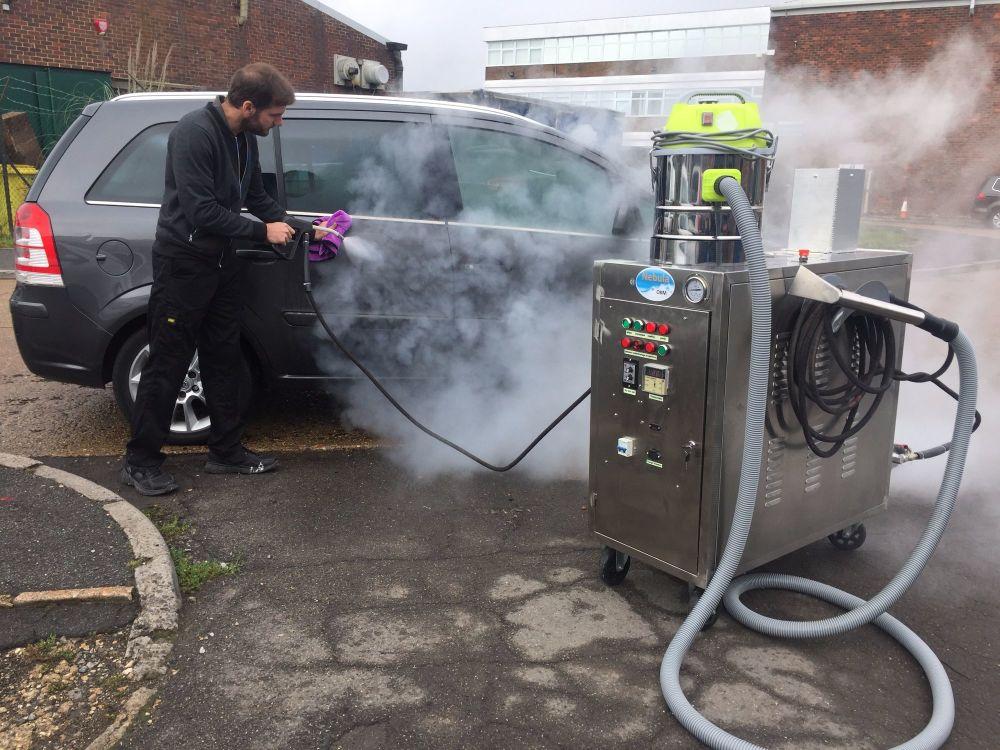 Dry steam Car Wash. the Nebula