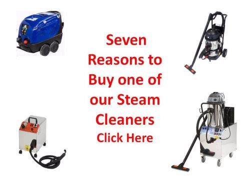 Chose between a commercial steam cleaner and an Industrial steam cleaner