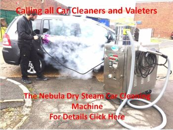 Car cleaning with dry steam