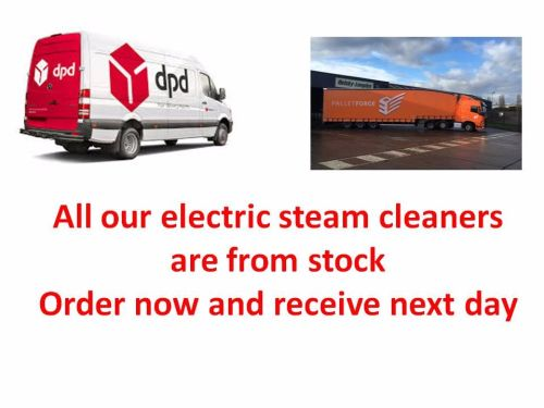 Commercial and Industrial steam cleaners being delivered