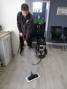 commercial steam mopping system
