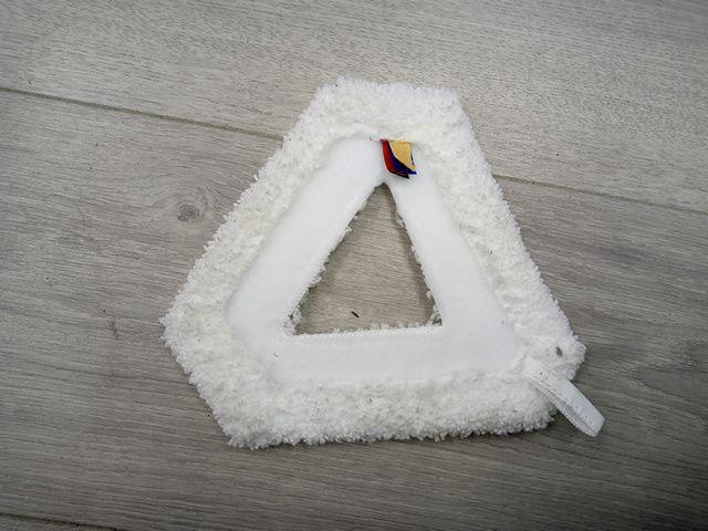 Triangular Micro Fibre Mop Pad