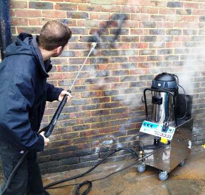 Graffiti Removal using a steam clean systems SC3000 indusrial steam cleaner