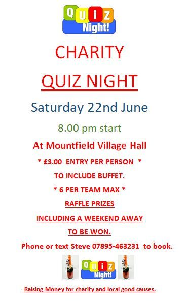 Quiz night poster 22.6.19
