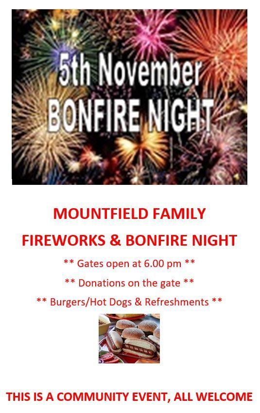 Mountifield Bonfire Night
