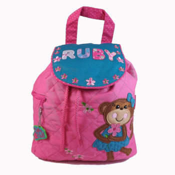 Personalised Child's Backpack Cheeky Monkey Girl Design