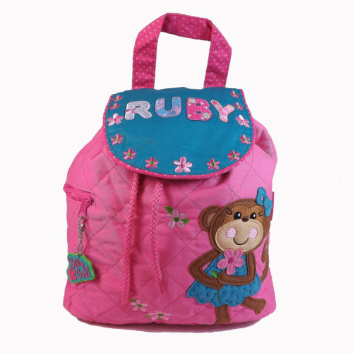 Personalised Child's Backpack Monkey Design