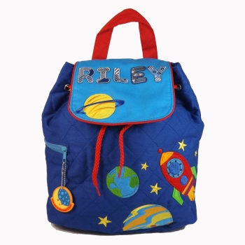 Personalised Child's Backpack Rocket Design