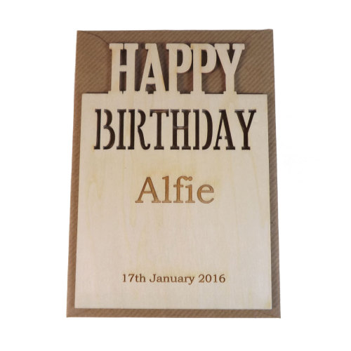 Personalised birthday card wooden personalised birthday card bookmarktalkfo Choice Image