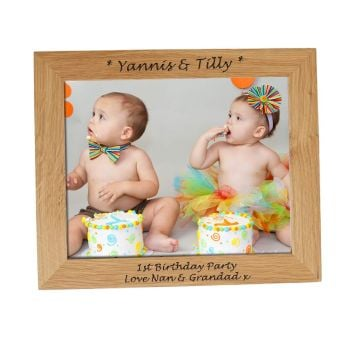 Personalised 10x8 Solid Oak Photo Frame - Perfect Gift for Birthdays