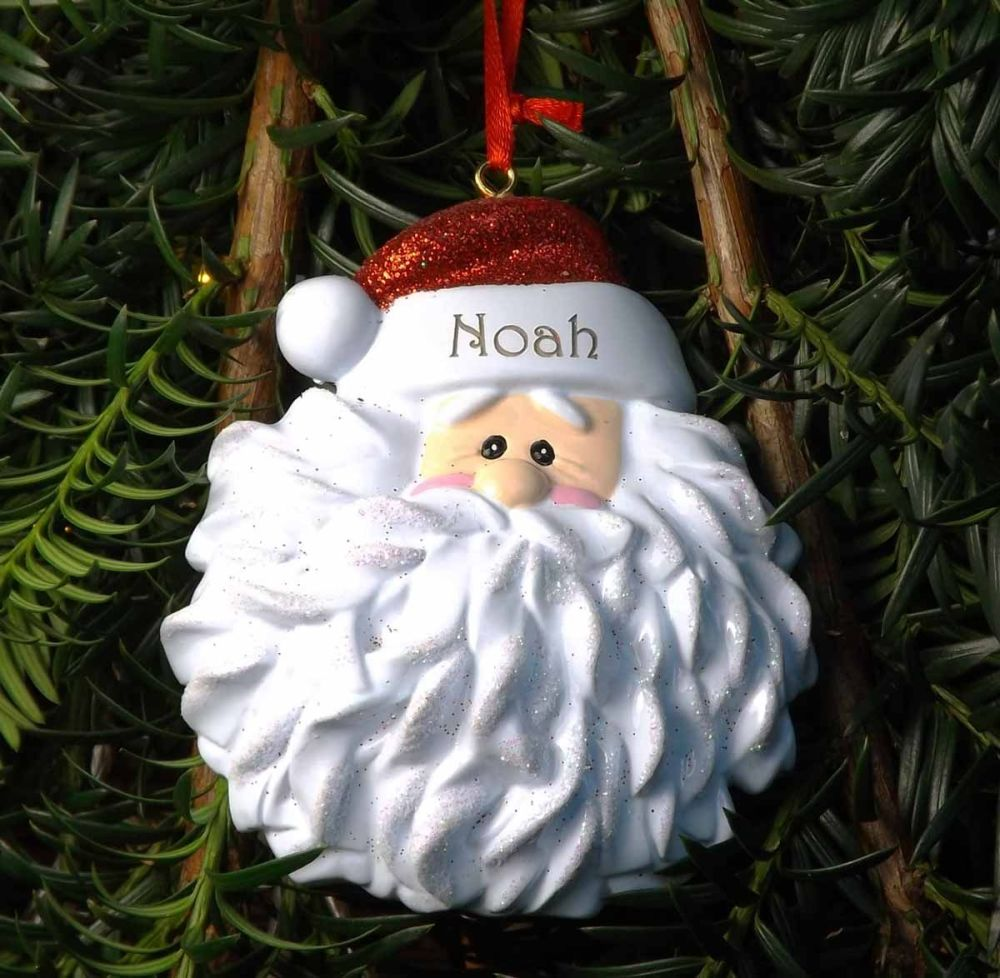 Santa Hat - Personalised Tree Decoration