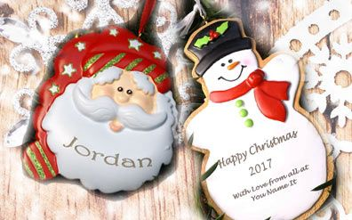 Personalised Christmas Decorations and Cards