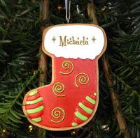 Cookie Stocking - Personalised Christmas Tree Decoration