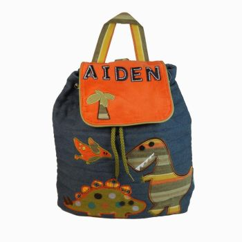 Personalised Child's Backpack Dinosaur Design - Signature Collection