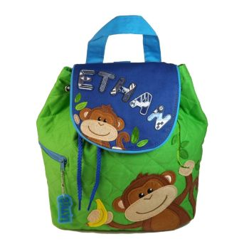 Personalised Child's Backpack Cheeky Monkey Boy Design