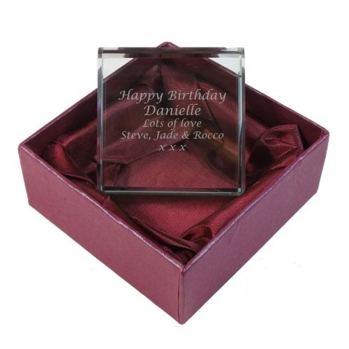 Personalised Glass Token. A perfect Birthday gift and keepsake