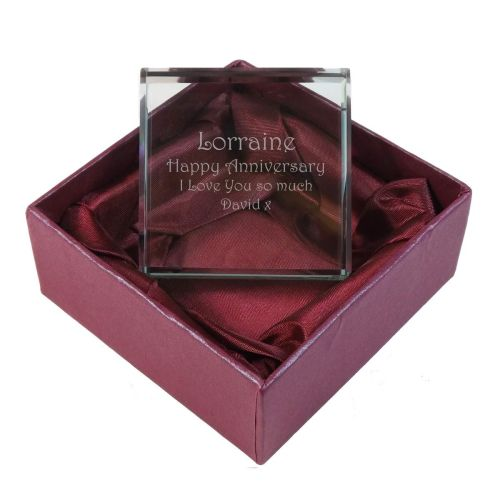 Personalised Glass Token. A perfect Anniversary gift and keepsake