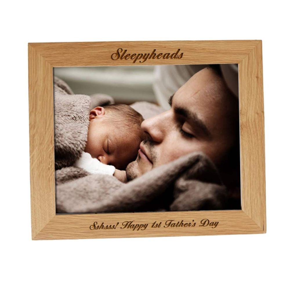 Personalised 10x8 Solid Oak Photo Frame - Perfect father's Day Gift
