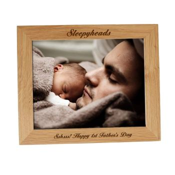 Father's Day Personalised 10x8 Solid Oak Photo Frame