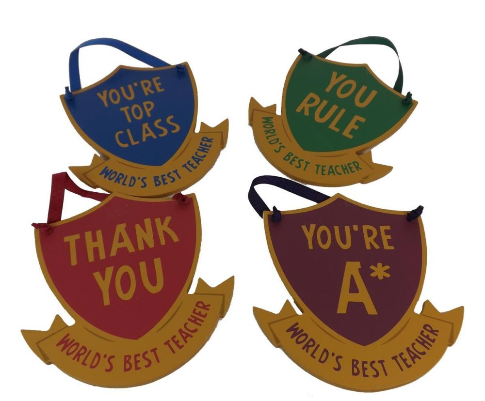 End of Term Hanging Shields - Set of 4