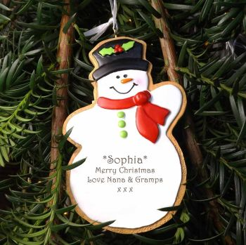 Snowman - Personalised Tree Decoration